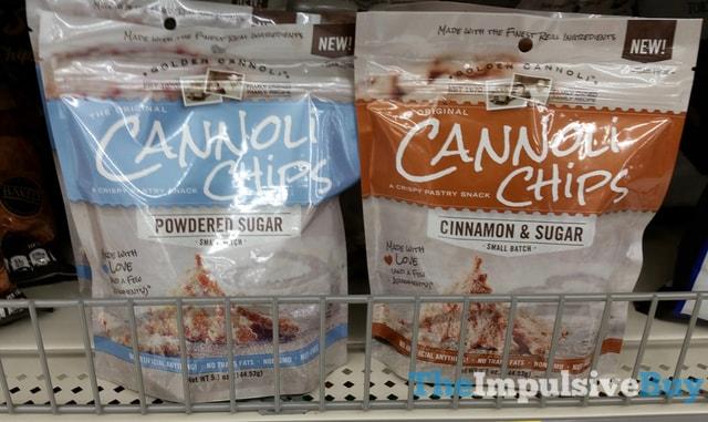 Powdered Sugar and Cinnamon & Sugar Cannoli Chips
