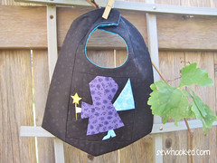 Fairy Godmother Reversible Bib, front