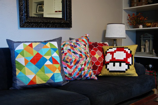 Four of Seven Couch Pillows