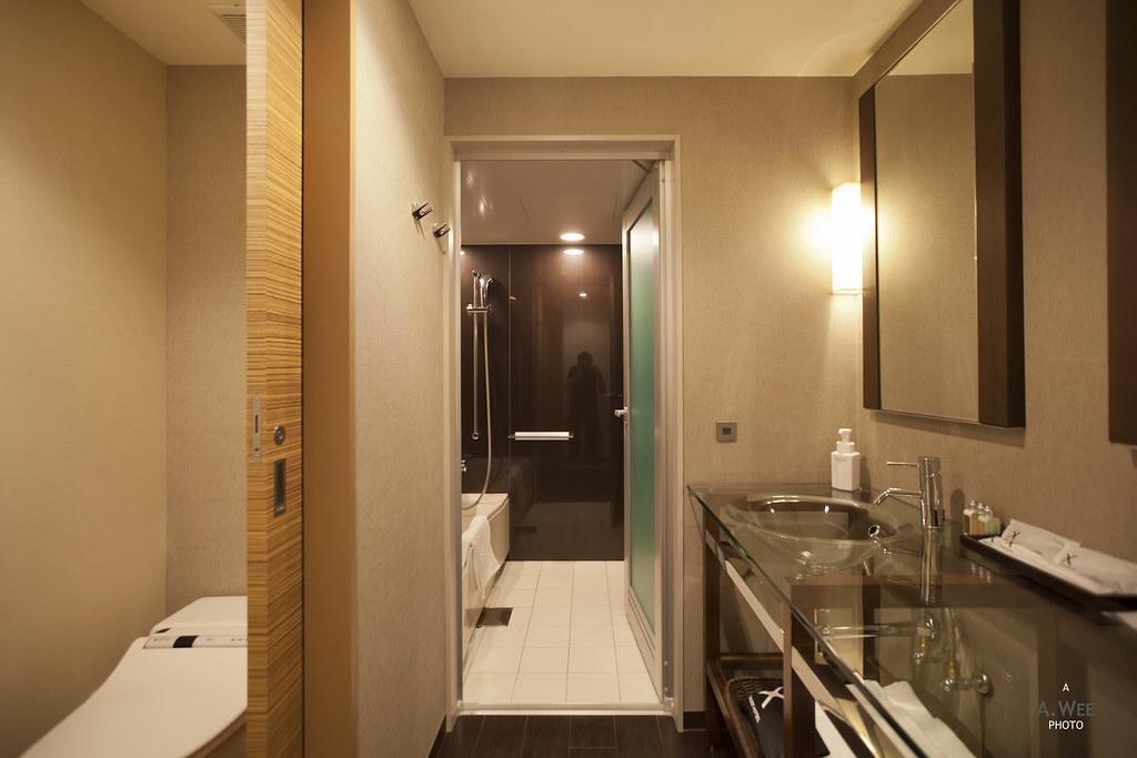 Large Compartmentalized Bathroom