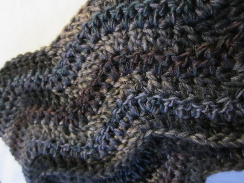 Gent's Stashbuster Scarf ~ Detail by Pointe Shoes Punk Rock And Purl Pix