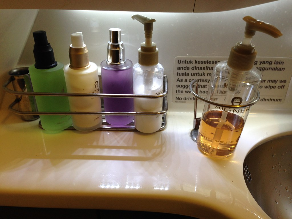 Aigner Amenities in the Lavatory