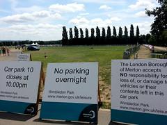 Wimbledon No parking