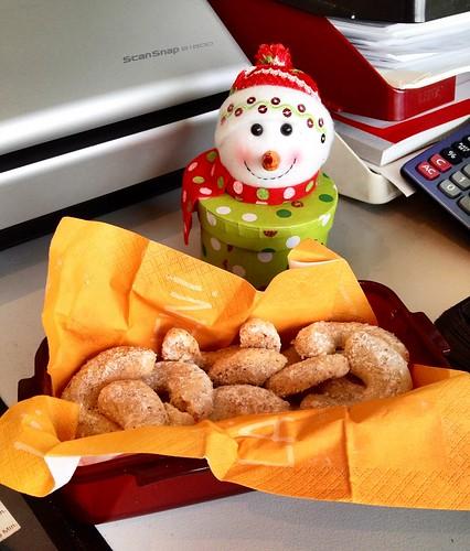 Selfmade cookies in the bureau <3