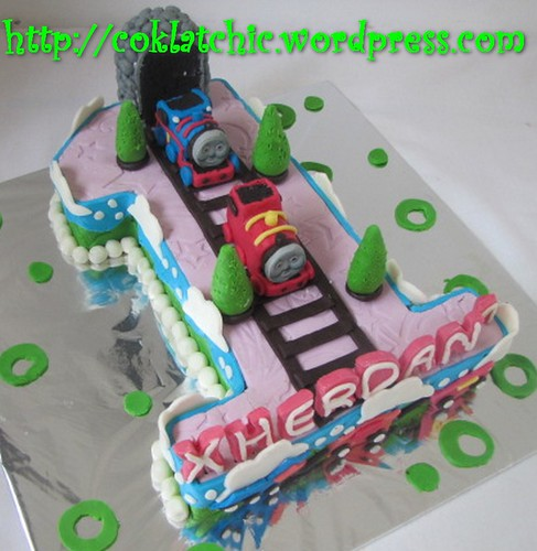 Cake Angka 1 dengan Thomas