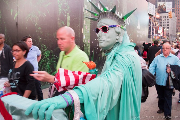 Statue of Liberty Costume in Times Square