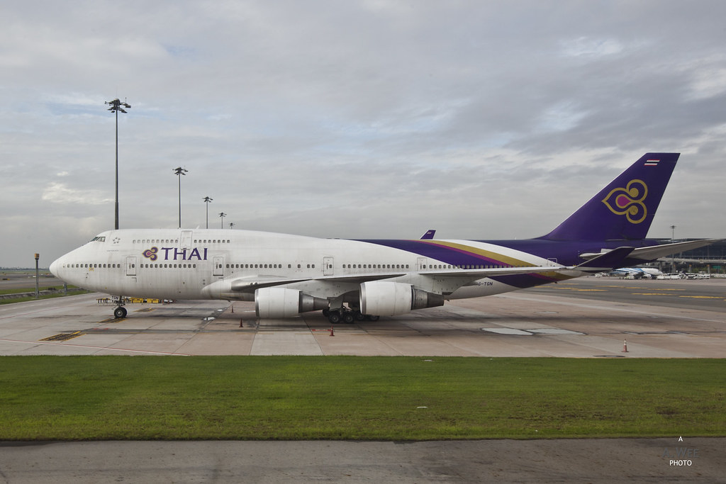Thai Airways 747 at BKK