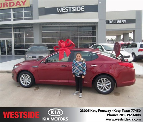 Happy Anniversary to Mary Ester Perez on your 2013 #Kia #Optima from Chowdhury Rubel and everyone at Westside Kia! #Anniversary by Westside KIA