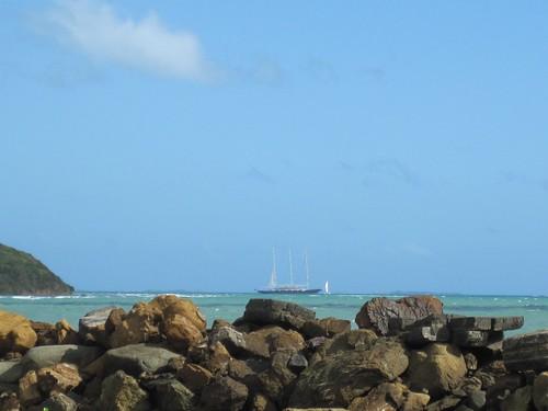 Ship ancored near Fajardo