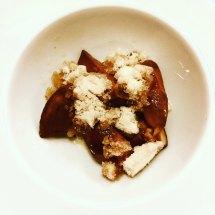 Consorzio - porcini in caffè, granita di tabacco, pepe