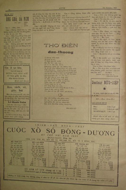 Bản in đầu tiên trên báo CƯỜI, 1937