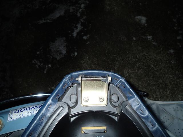 Broken seat hinge on Genuine Buddy scooter