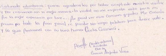 Patricia Bordon, Presidenta del Club de Ciencias Escuela N. 17 de Fiambala, Catamarca