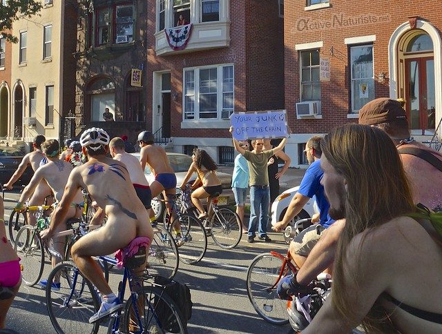 naturist 0054 Philly Naked Bike Ride, Philadelphia, PA USA