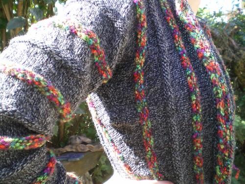 Tricot gilet kimono