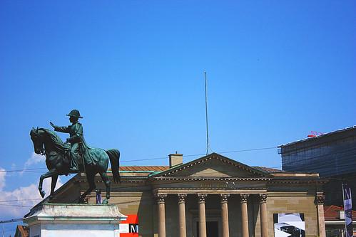 General Dufour equestrian statue