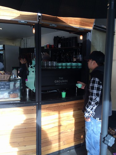 Hatch espresso - now serving grounds coffee.