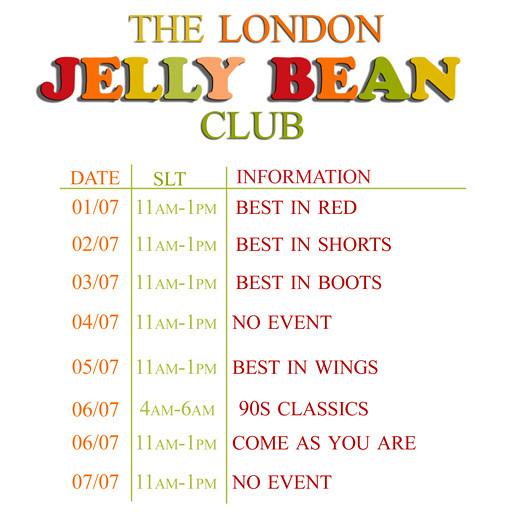 Jelly Bean Schedule 01.07.13