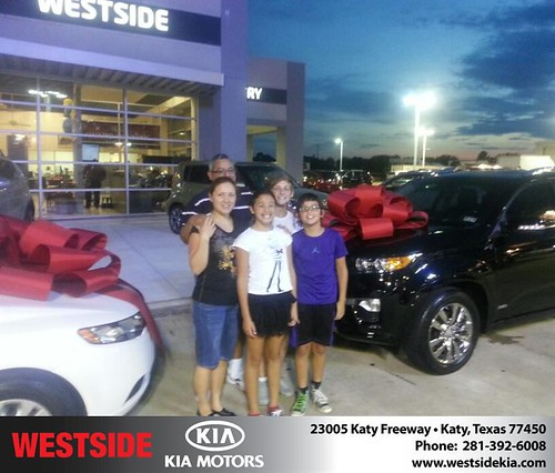 Thank you to Marina Guevara on the 2013 Kia Sorento from Rubel Chowdhury and everyone at Westside Kia! by Westside KIA