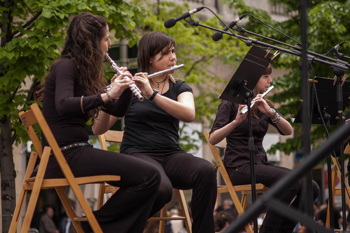 Música en la calle para San Jorge