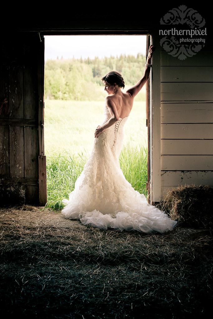 The Beautiful Bride - Prince George BC Wedding Bridal Portrait