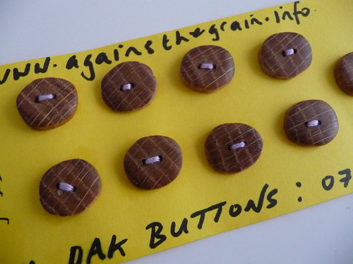 Against The Grain Wooden Buttons
