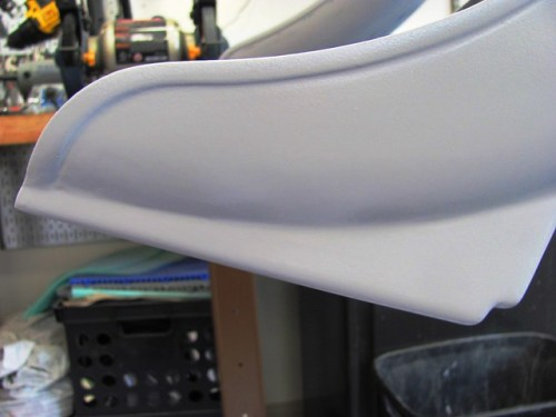 Rear Fender Primer Patch Is Nice and Smooth
