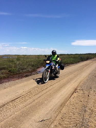 Rich rides sandy road