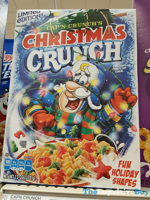 Limited Edition Cap'n Crunch's Christmas Crunch Cereal (2016)
