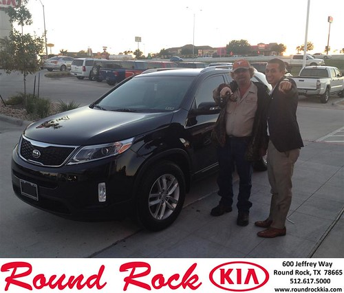 Thank you to Alain Caps  on your new 2014 #Kia #Sorento from Derek Martinez and everyone at Round Rock Kia! #NewCarSmell by RoundRockKia