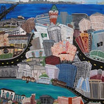 Oakland, California - 6 feet X 4.5 Feet - Acrylic on Canvas