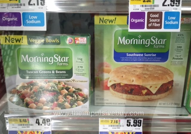 MorningStar Farms Tuscan Green & Beans Veggie Bowl and Southwest Sunrise Breakfast Sandwich