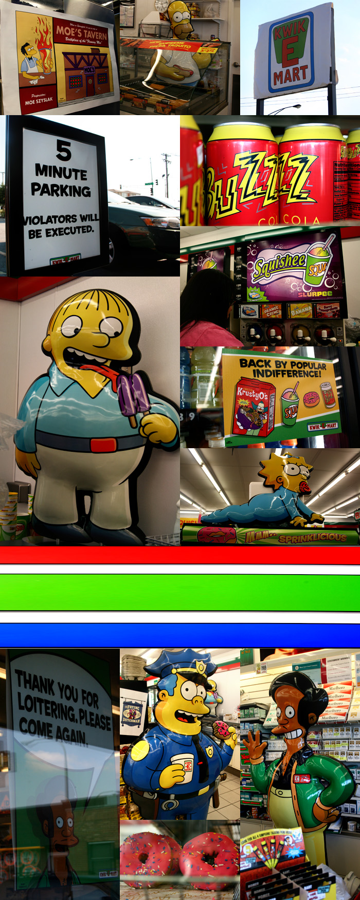 The Simpsons Kwik E Mart 7-11 in Chicago, Illinois in Chicago, Illinois