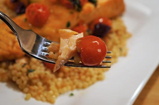 salmon tomato bite