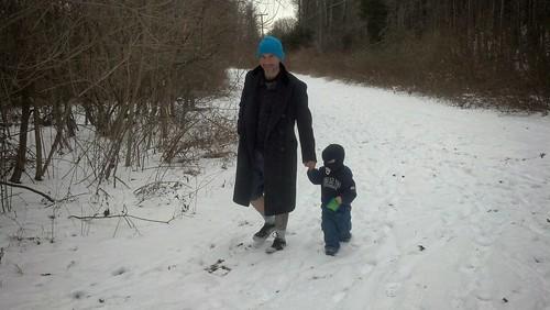 Julie J. Metz Wetlands Bank - January 2014 - Ryan and Sagan Hike (From Front)