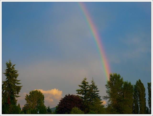 Rainbow over the North Cascades