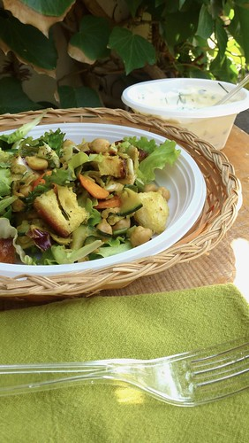 Curried Chickpea & Zucchini salad