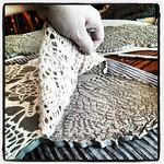 Making a good impression #ceramics #clay #handbuilding #crochet