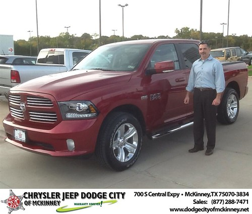 Thank you to John Newberry on your new 2013 Dodge Ram from Joe Ferguson  and everyone at Dodge City of McKinney! #NewCarSmell by Dodge City McKinney Texas
