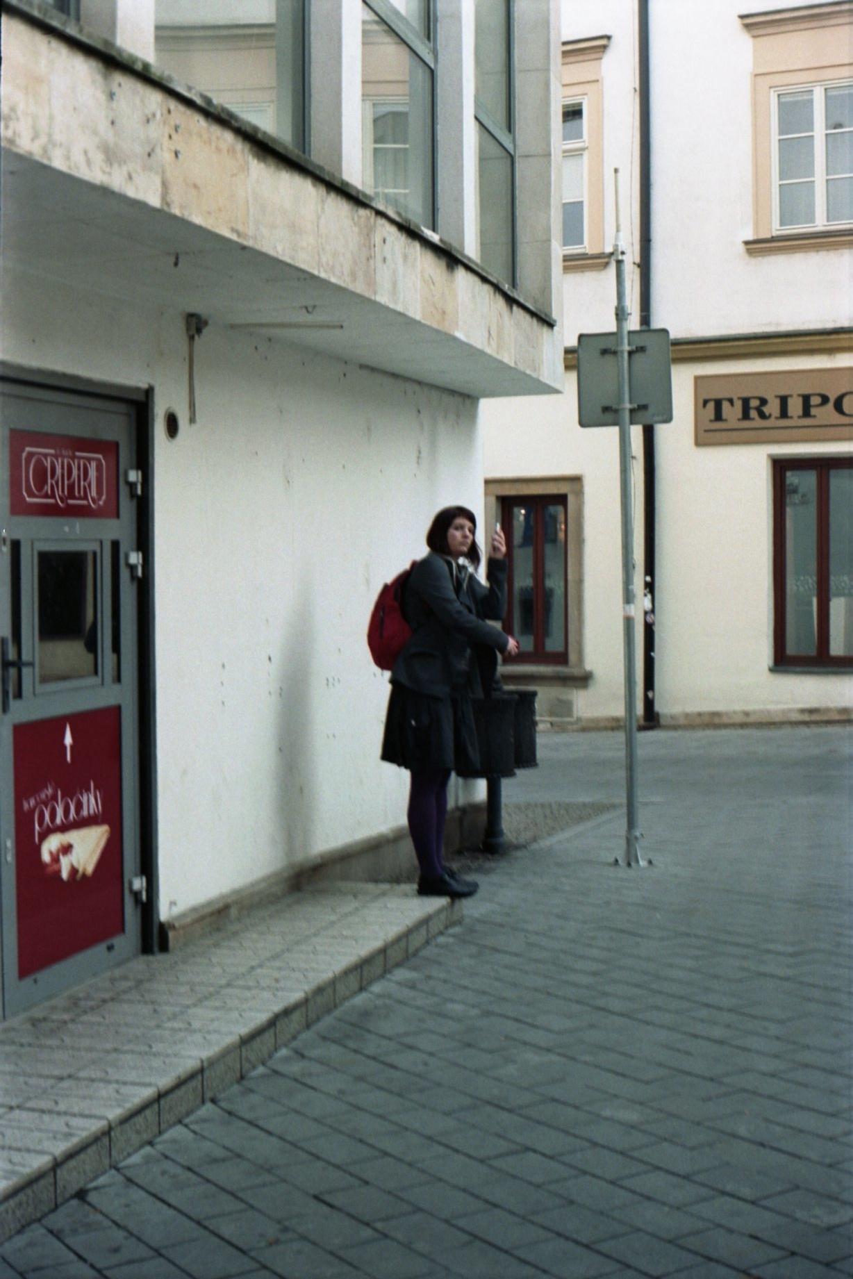 Zorki 4 + Industar-61 L/D - Woman with a Phone