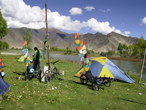 First campsite out of Lhasa