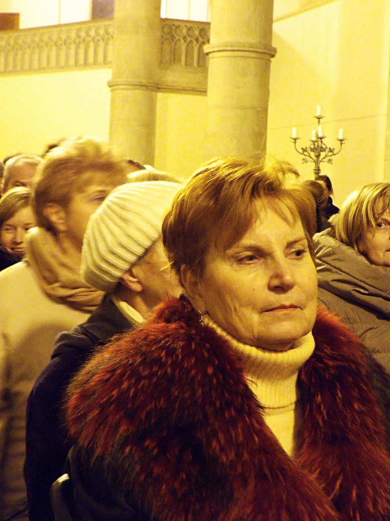 People Leaving the Red Church in Brno