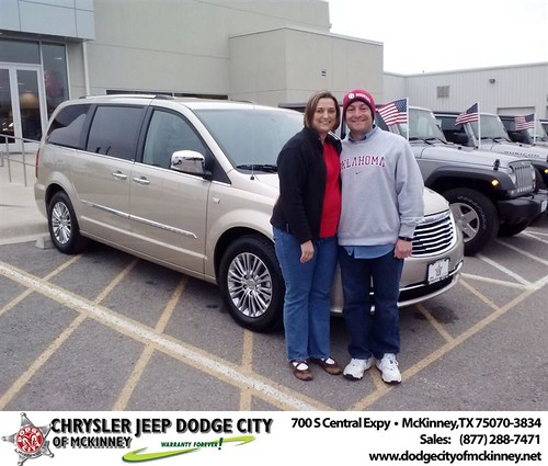 Thank you to Christopher And Monica  Casmedes on your new 2014 #Chrysler #Town & Country from Carlos Sisk and everyone at Dodge City of McKinney! #NewCar by Dodge City McKinney Texas