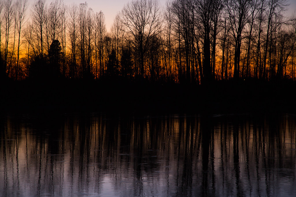 sunset on the Skagit