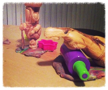 Day 11 - Play dough time.  Joseph, what are you doing? by nikki.j.thorpe