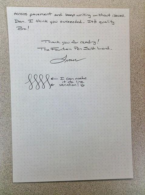 Bolt hand written