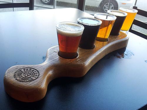 Beer Flight at Parallel 49