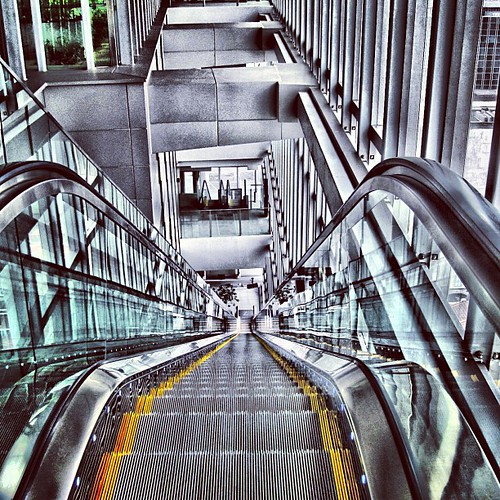 Long way down, escalator at Orchard Central #singapore by @MySoDotCom
