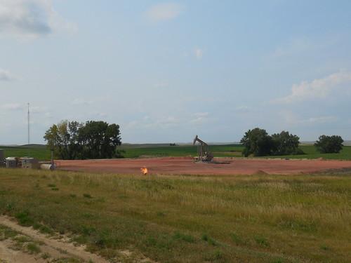 Oil fields nearby