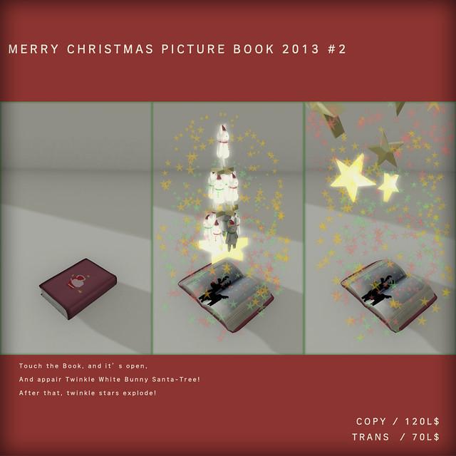 *N*CHRISTMAS BUNNY BOOK(WHITE)
